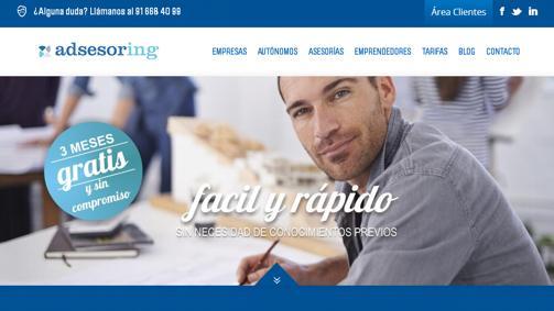 Diseño pagina web adsesoring