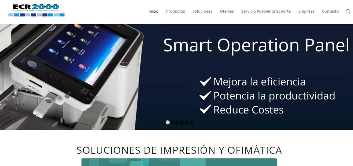 web soluciones de impresión y ofimática