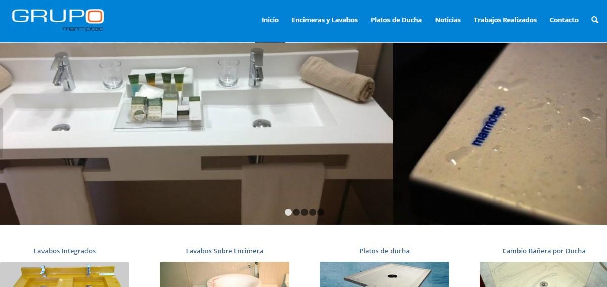 web platos de ducha lavabos encimeras