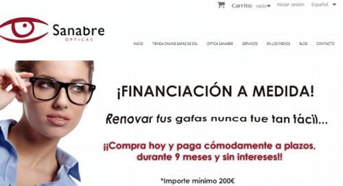 Diseño pagina web opticasanabre