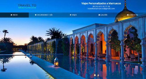 Diseño pagina web Traveltomarruecos