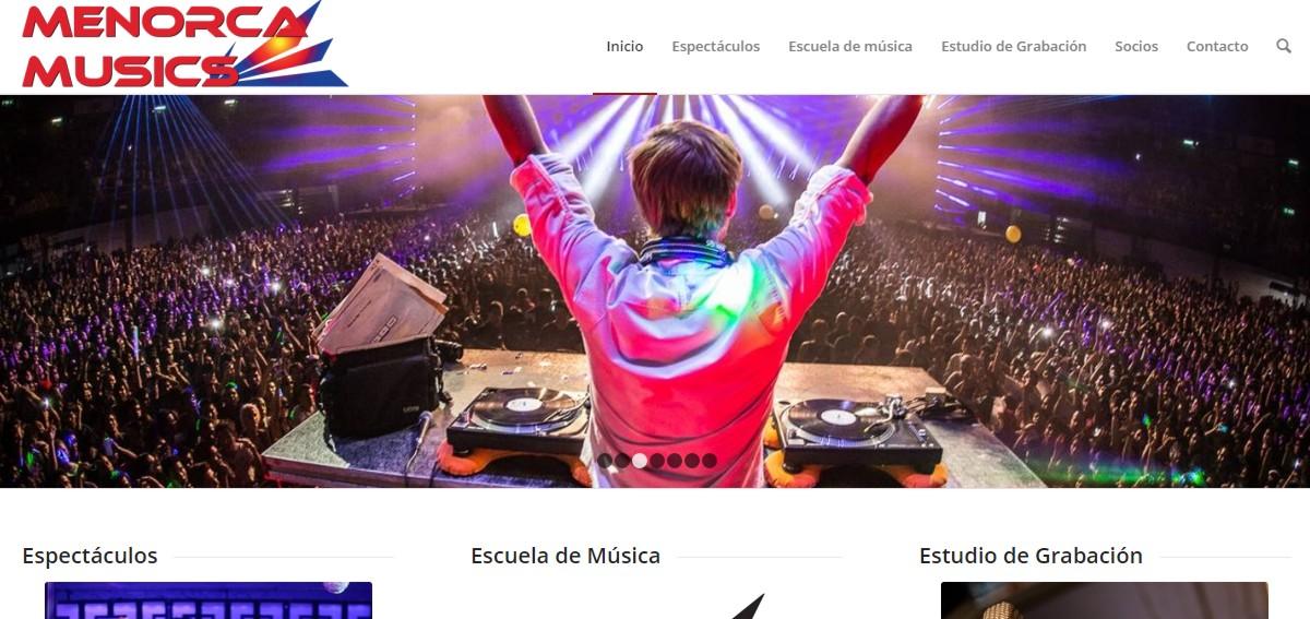 web escuela de música espectáculos estudio grabación