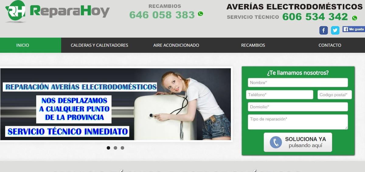 web servicio técnico de electrodomesticos