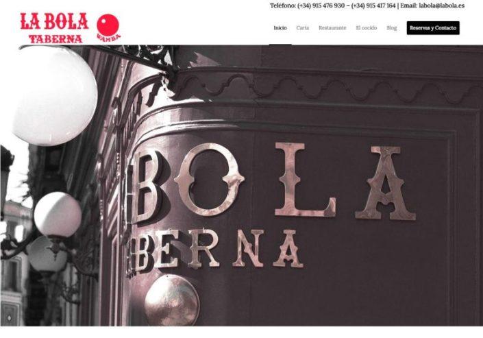 Web Taberna Restaurante