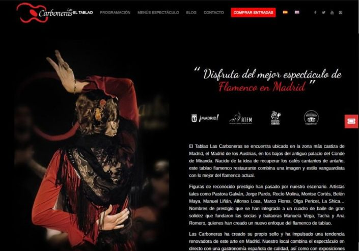 Web Tablao Flamenco
