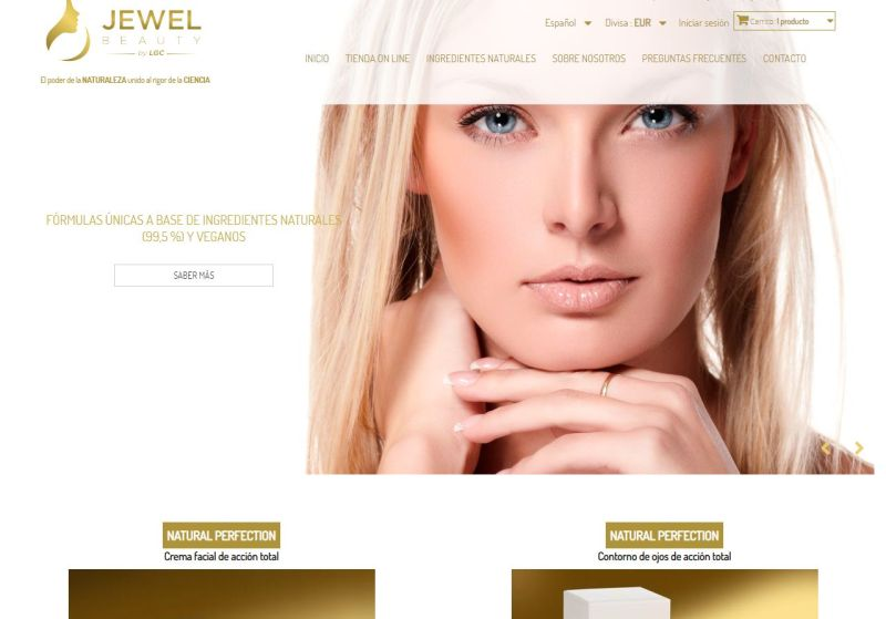Web Productos de Belleza Premiun